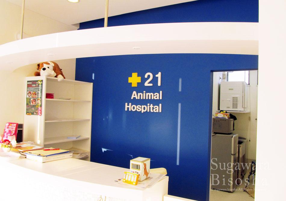 21動物病院 様 プレミアムLED表面発光文字 新規開業実績11