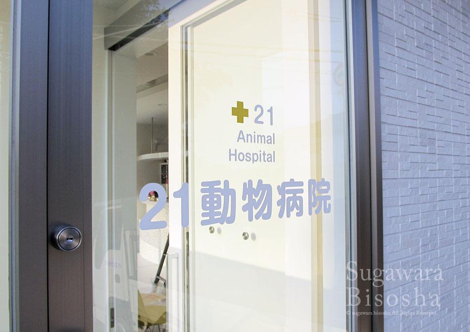 21動物病院 様 プレミアムLED表面発光文字 新規開業実績8